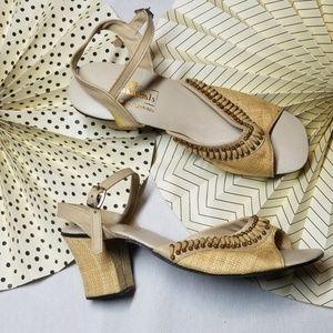 Vintage Grandma Sling Back Sandals size 8